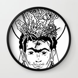 Frida en el caribe Wall Clock