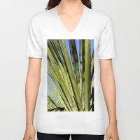 palm V-neck T-shirts featuring Palm by Boris Burakov