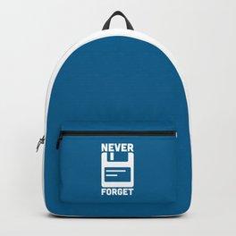 Never Forget Floppy Disk Backpack