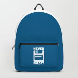 Never Forget Floppy Disk Geek Quote Backpack