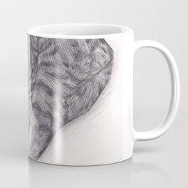 Bengal Cat Sleeping - Pencil Pet Drawing - Sketch by artist artwork Coffee Mug