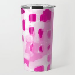 Zimta - pink abstract painting dots mark making canvas art decor Travel Mug