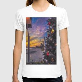 Belmont Shores Christmas Sunset T-shirt