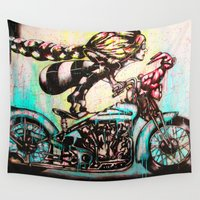 moto Wall Tapestries featuring Moto D by Mo Baretta