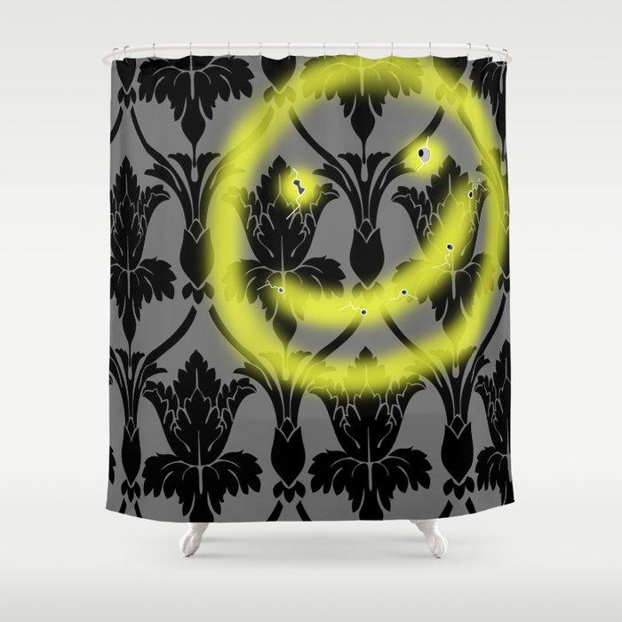 Sherlock smiling wall Shower Curtain