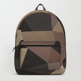 Brown pattern . Leather patches . Backpack