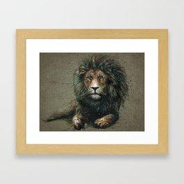 Lion background Framed Art Print