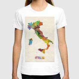 Italy Watercolor Map, Italia T-shirt