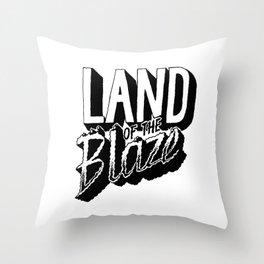 Land of the Blaze Throw Pillow