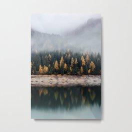 Foggy Reflection Metal Print