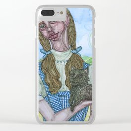 Dorothy and Toto painting, Coombes Clear iPhone Case