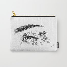 Rose Petals in Her Eyes Carry-All Pouch
