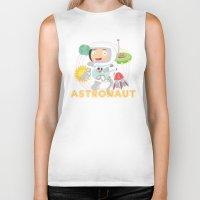 astronaut Biker Tanks featuring Astronaut by Alapapaju