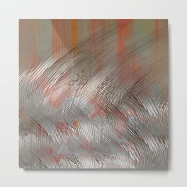 Silver lines Metal Print