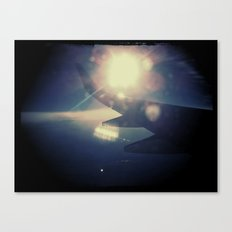 Right past the wing Canvas Print