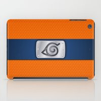 naruto iPad Cases featuring NARUTO BANDANA HEADBAND by BeautyArtGalery