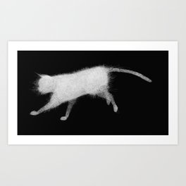 Wired cat Art Print