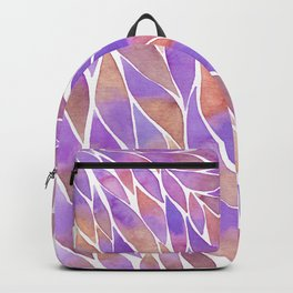 Pink and purple feathers palette Backpack