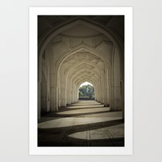 Arched colonnade Art Print