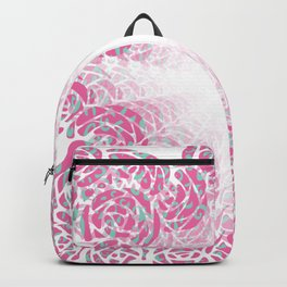 A Rush of Wild Roses Illusion Art Design Backpack