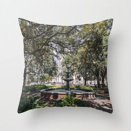 Lafayette Square - Savannah, Georgia Throw Pillow