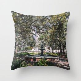 Lafayette Square - Savannah, Georgia Throw Pillow