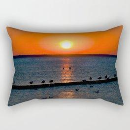 Summer Sunset on the Baltic Sea Rectangular Pillow