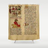 christ Shower Curtains featuring Jesus Christ Manuscript 1 by Limitless Design