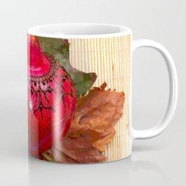Henna Inspired Hand Painted Pomegranate  Coffee Mug