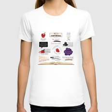 Once Upon a Time Quotes Womens Fitted Tee White MEDIUM