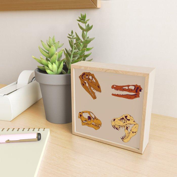 dinosaur skulls Framed Mini Art Print
