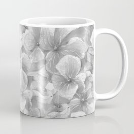 Elegant gray white hand painted watercolor floral Coffee Mug