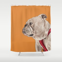 Brave, Bold Bully Shower Curtain