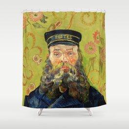 The Postman (Joseph Roulin) (1888) by Vincent Van Gogh. Shower Curtain