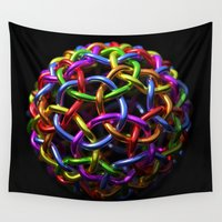 circle Wall Tapestries featuring circle by store2u