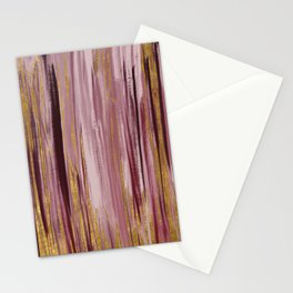 Abstract Burgundy and Gold Stationery Cards