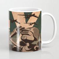 propaganda Mugs featuring Propaganda Series 2 by Alex.Raveland...robot.design.digital.art