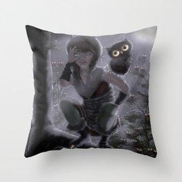 Night Wing Throw Pillow