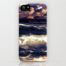 stormy sea waves reacls iPhone Case
