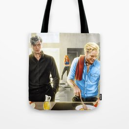 because he's happy Tote Bag