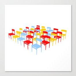 25 Chairs Canvas Print