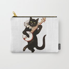 Black Halloween Cat for Decor and T Shirts Carry-All Pouch