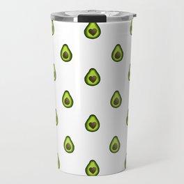 Avocado Hearts (white background) Travel Mug