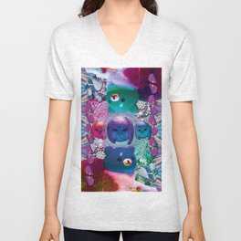 bubble cats going to the taco dome Unisex V-Neck