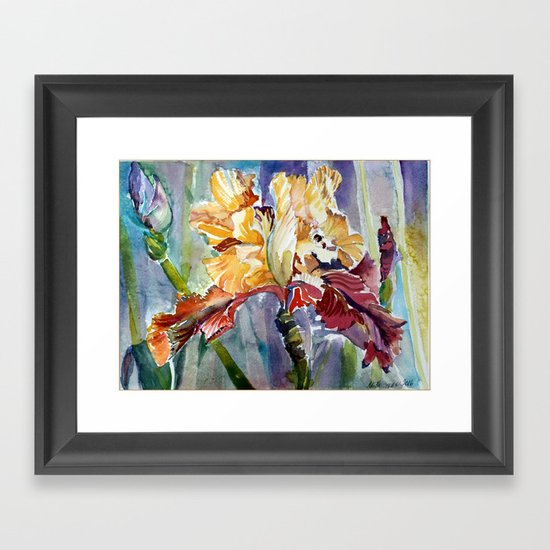 Iris Abstract Framed Art Print