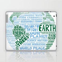 Protect Earth Word Bubble Laptop & iPad Skin