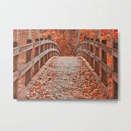 Ruby Red Bridge Metal Print