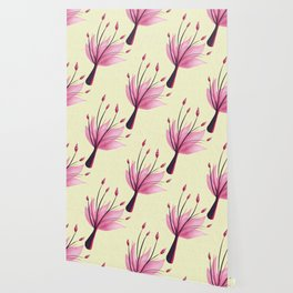 Pink Abstract Water Lily Flower Wallpaper