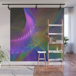 Fractal Rainbow Wall Mural