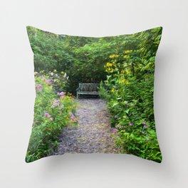 Garden of Enchantment Throw Pillow